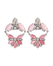 Divina Stone and Crystal Earrings, PINK, hi-res