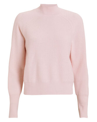Jillian Mock Neck Cashmere Sweater, PINK, hi-res