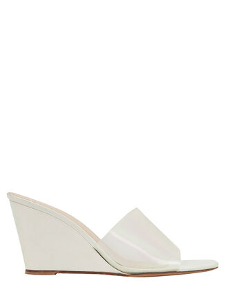 Paradise Wedge Sandals, WHITE, hi-res