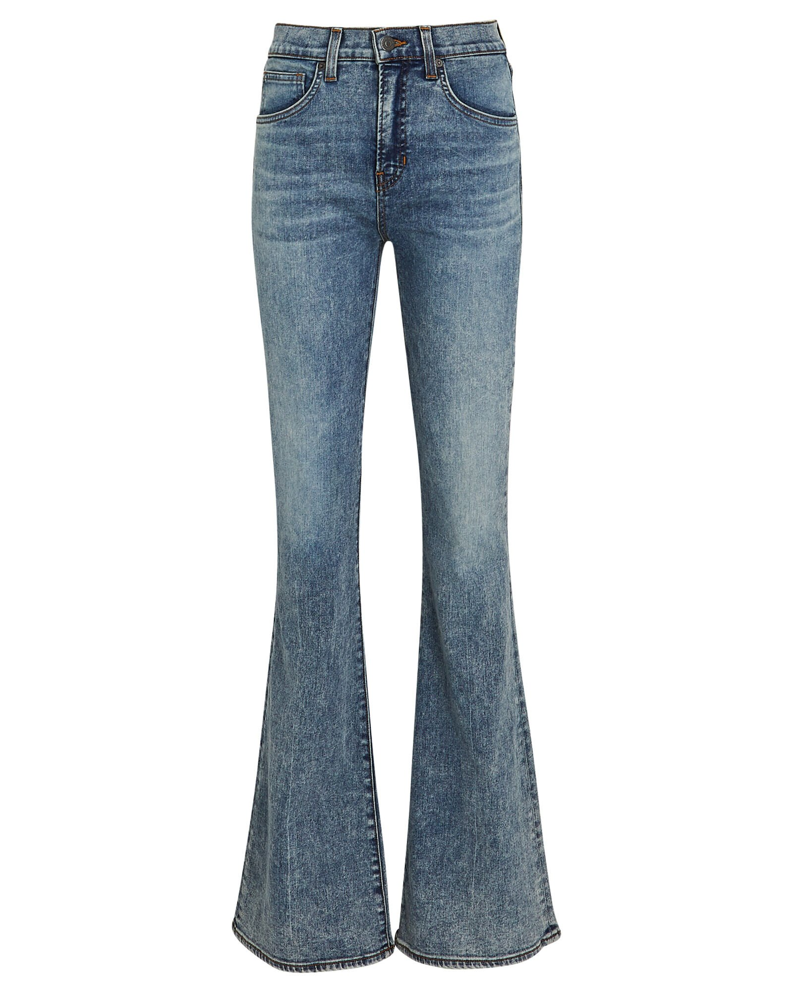 Beverly Flared High-Rise Jeans, BLUE MIST, hi-res