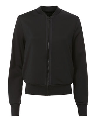 Collegiate Bomber Jacket, BLACK, hi-res