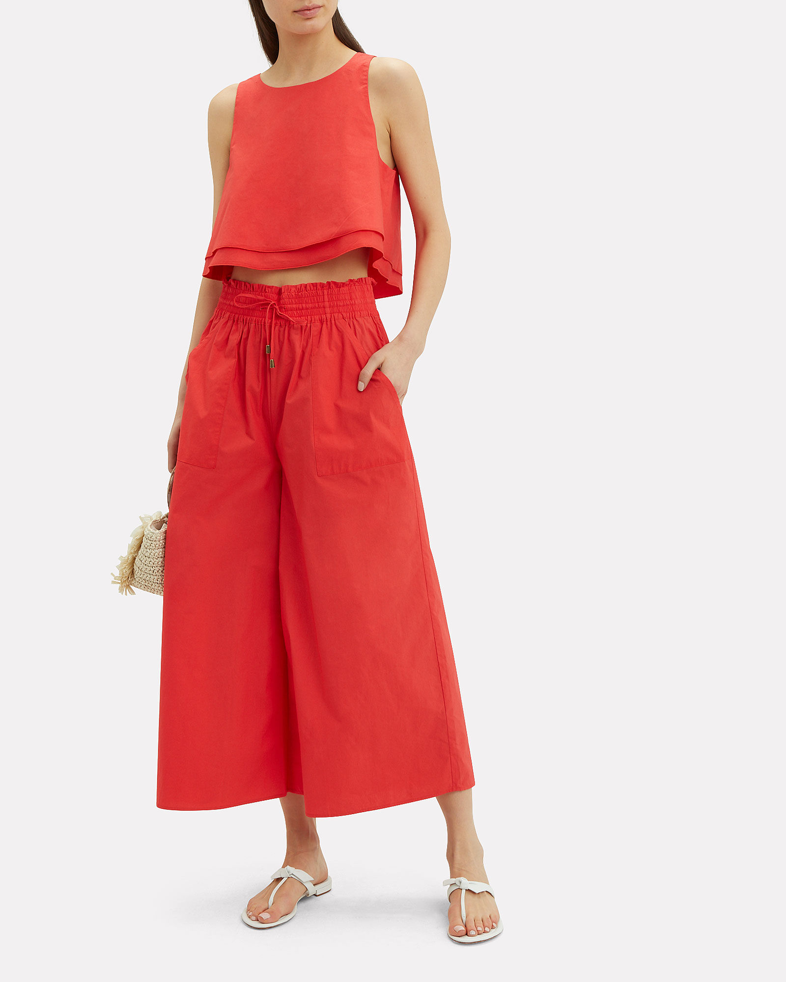 Galacia Red Culottes, RED, hi-res