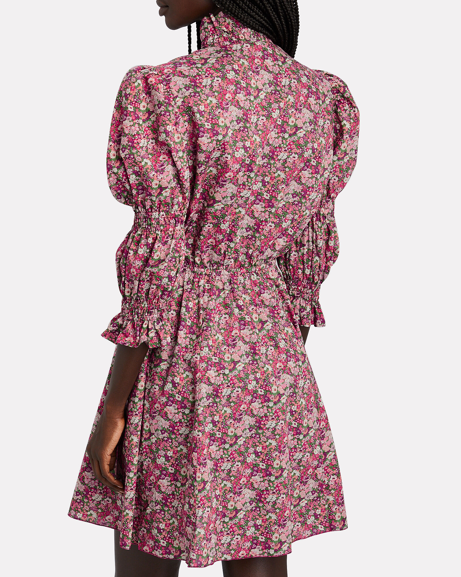 Floral Puff Sleeve Mini Dress, , hi-res