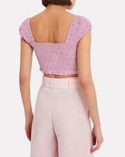 Polka Dot Crop Top, LILAC, hi-res
