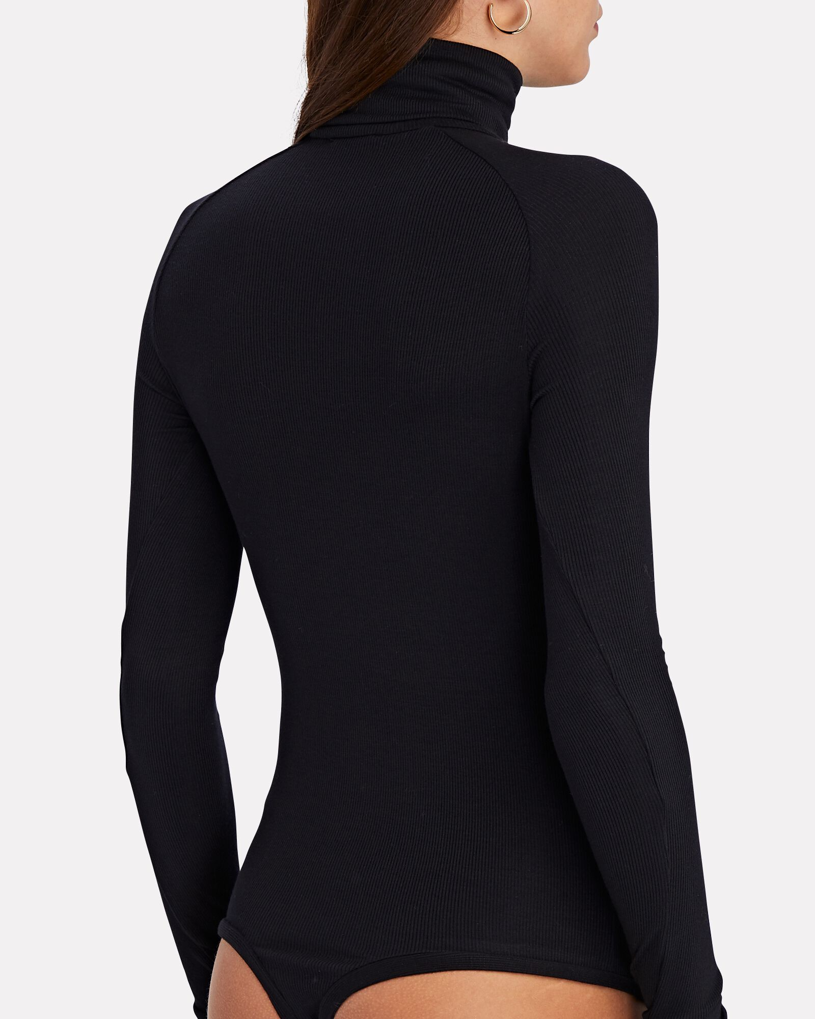 Varick Ribbed Turtleneck Bodysuit, BLACK, hi-res