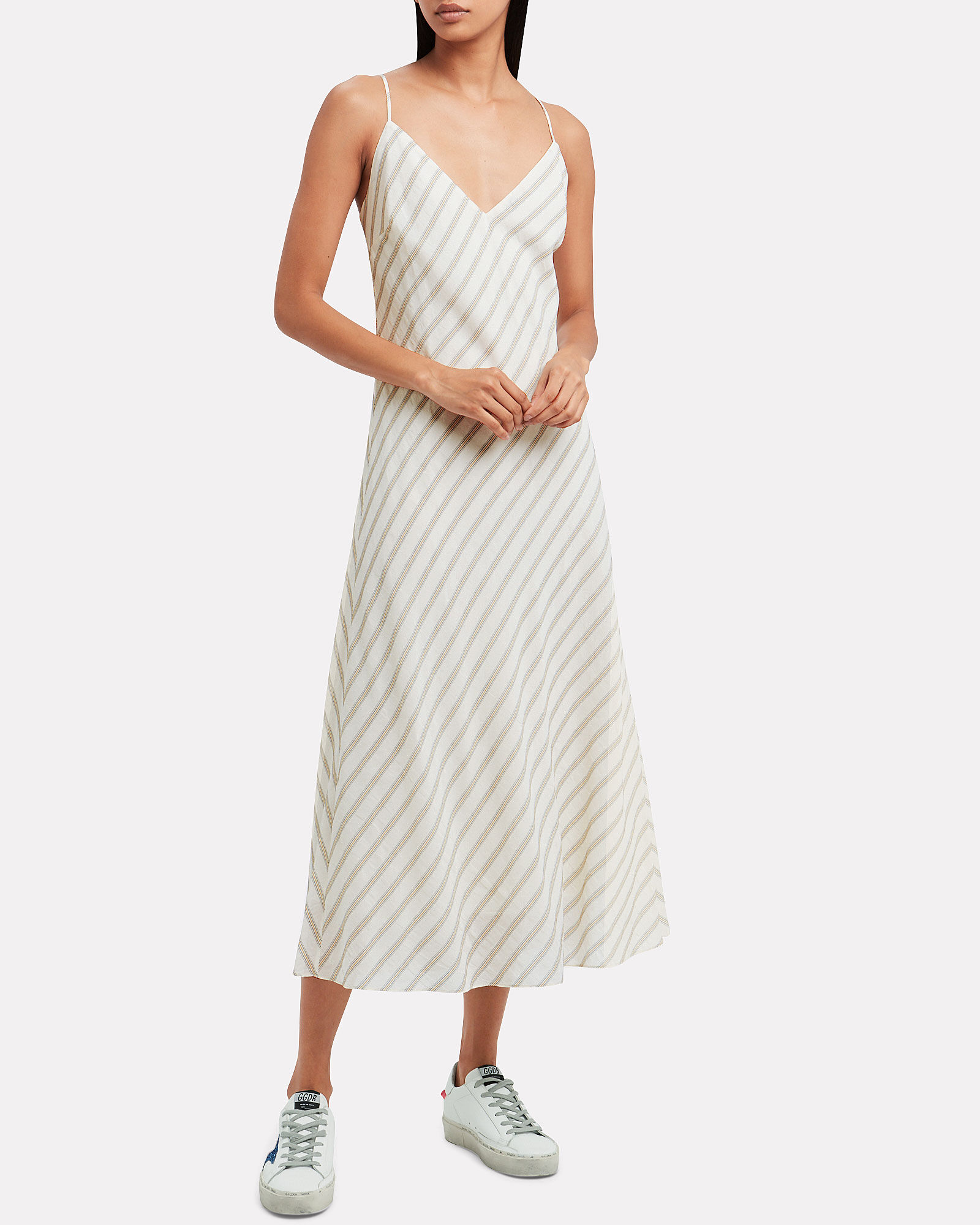 Striped Bias Slip Dress, MULTI, hi-res