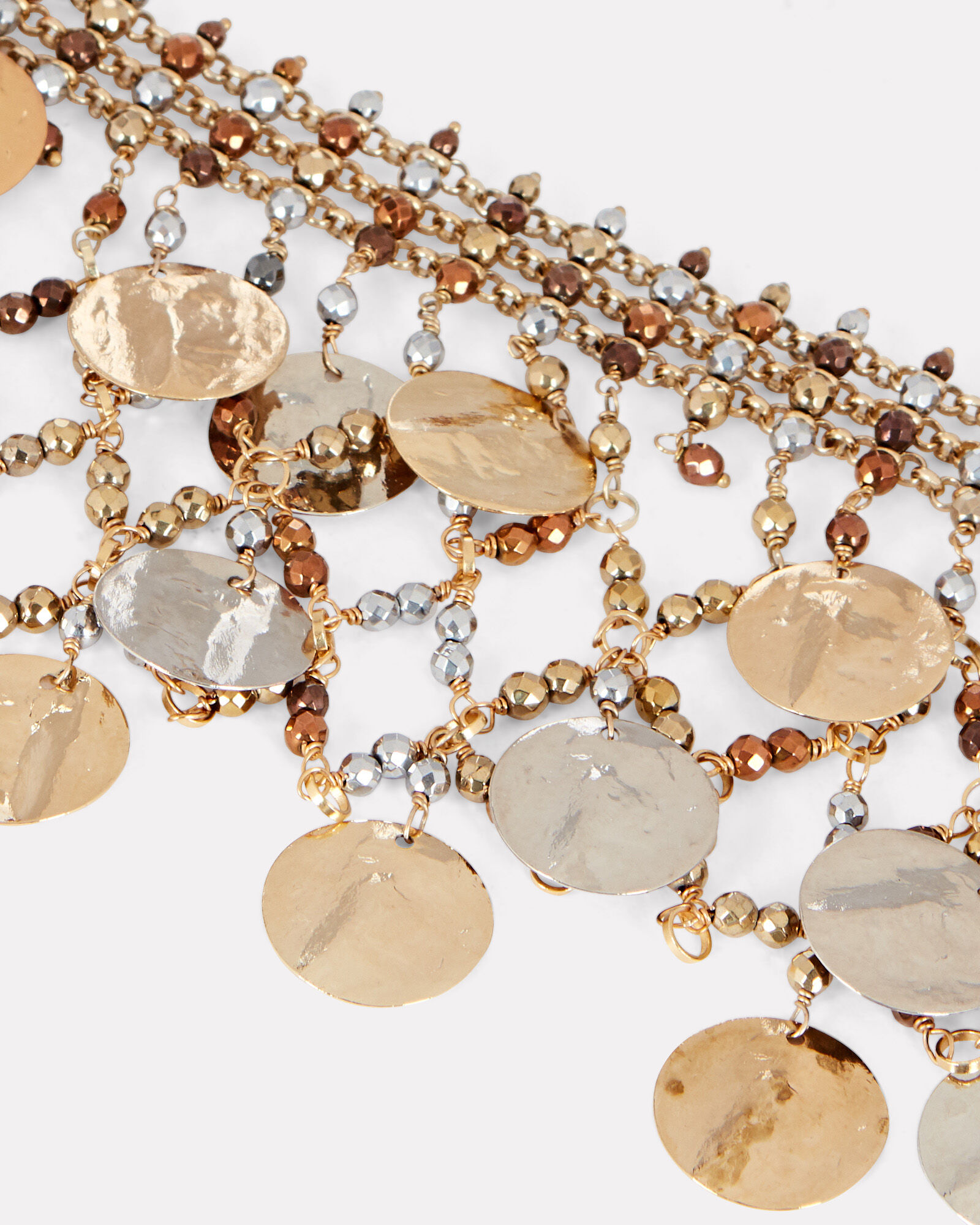 Gitana Coin-Embellished Necklace, GOLD, hi-res