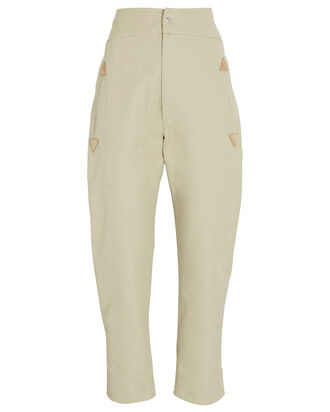 Raluni Tapered Crop Trousers, BEIGE, hi-res