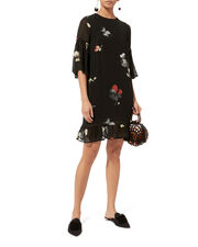 Lorita Georgette Mini Dress, BLACK, hi-res