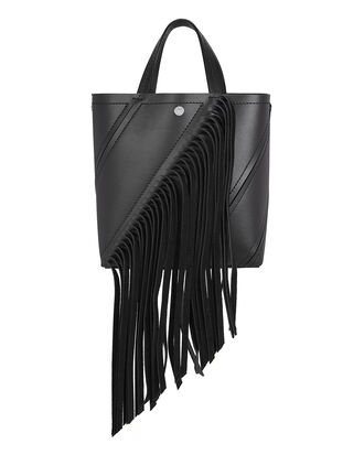 Hex Fringe Small Tote, BLACK, hi-res