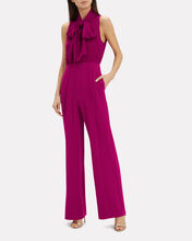Virginia Tie Neck Jumpsuit, TWO-TONE PINK, hi-res