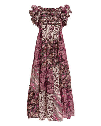 Zoya Patchwork Print Dress, MULTI, hi-res