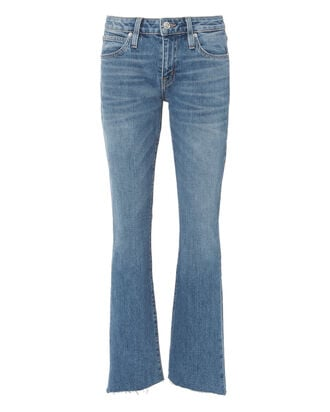 Scarlett Mid-Rise Ankle Kick Flare Jeans, DENIM, hi-res