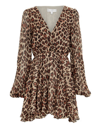Olena Silk Leopard Dress, MULTI, hi-res