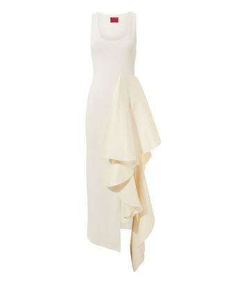 Naya Ruffle Dress, IVORY, hi-res