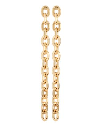 Chain-Link Drop Earrings, GOLD, hi-res