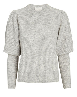 Rhonda Bishop Sleeve Sweater, GREY, hi-res