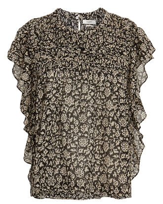 Layona Flutter Sleeve Floral Top, , hi-res