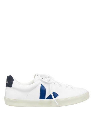 Esplar Blue Low-Top Sneakers, WHITE/BLUE, hi-res