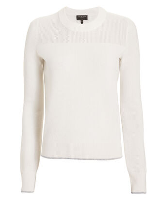 Yorke Cashmere Ivory Sweater, IVORY, hi-res