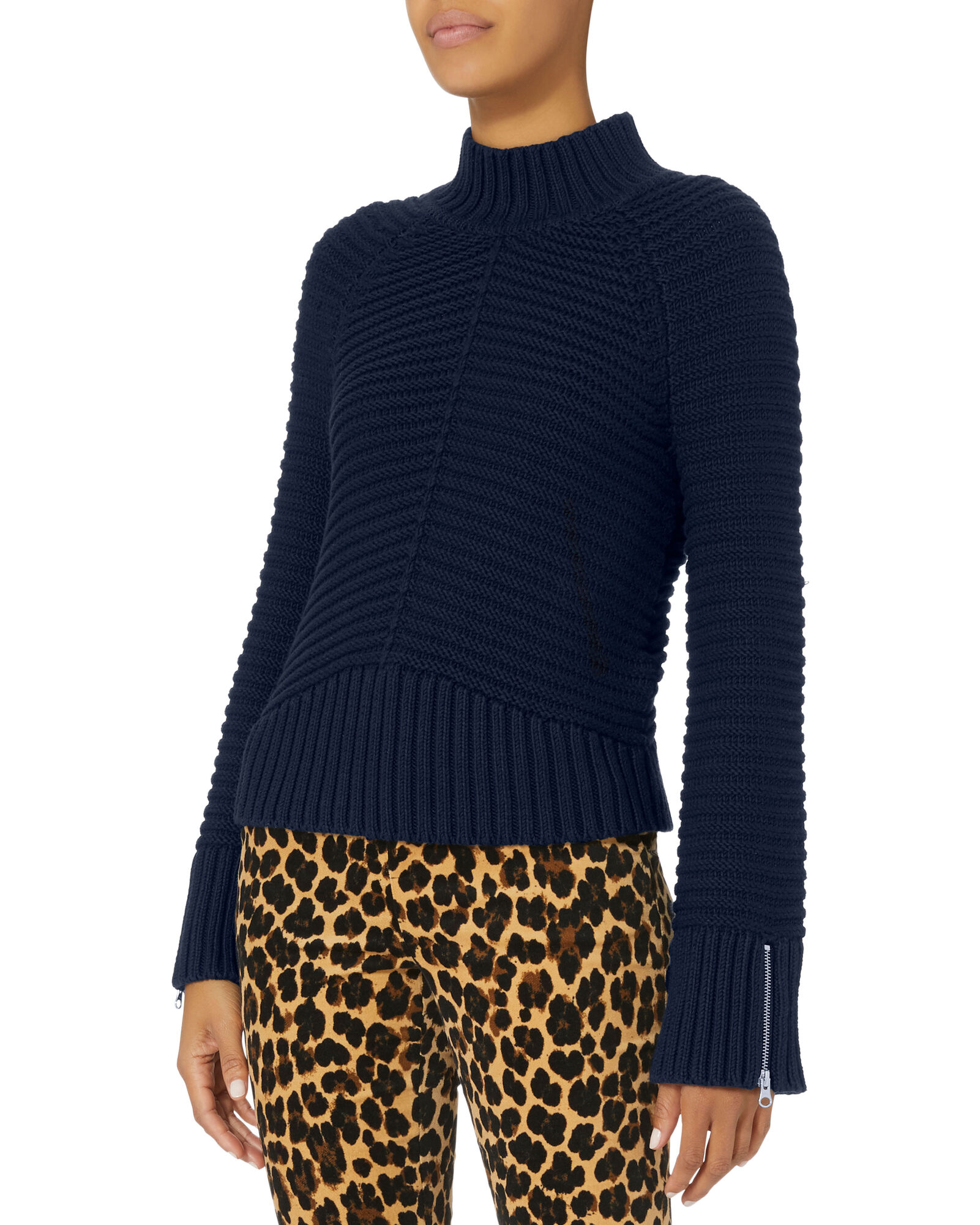 Pandora Zip Detail Cropped Sweater