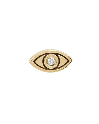 Evil Eye Single Stud Earring, GOLD, hi-res