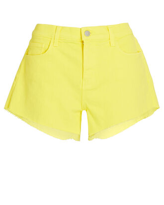 Audrey Cut-Off Denim Shorts, BUTTERCUP, hi-res
