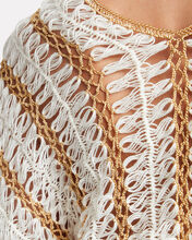 Firblu Crocheted V-Neck Top, WHITE, hi-res