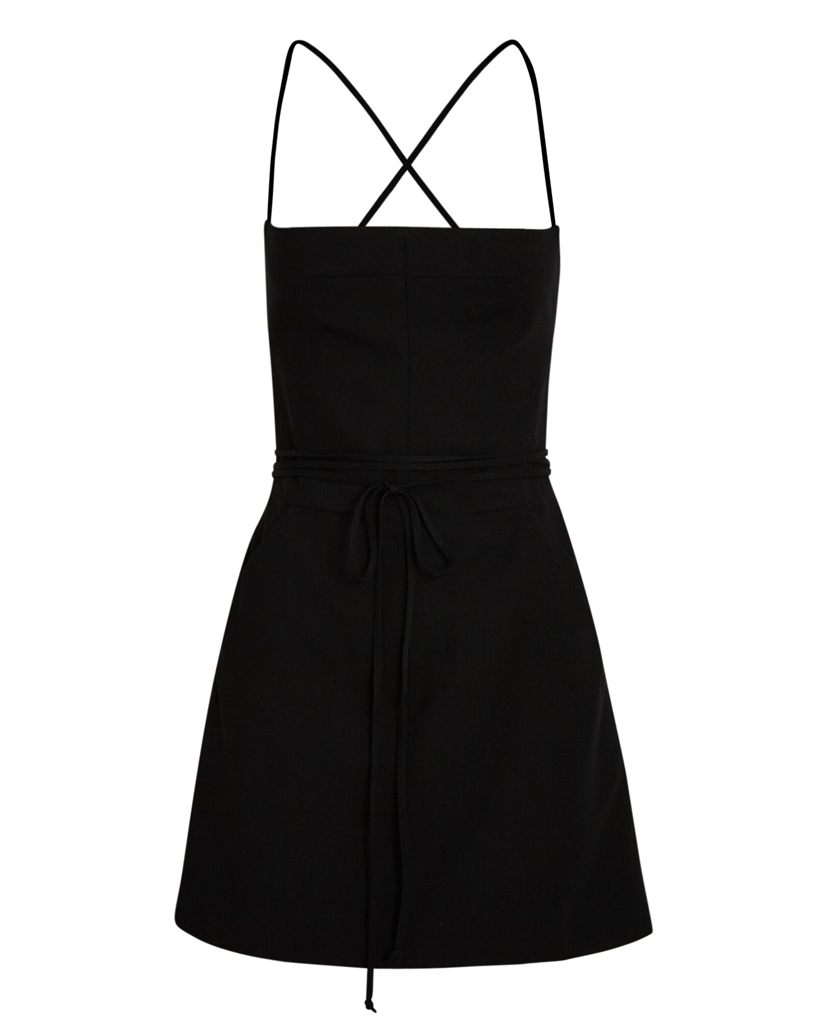 Gienevere Tie Back Mini Dress, BLACK, hi-res