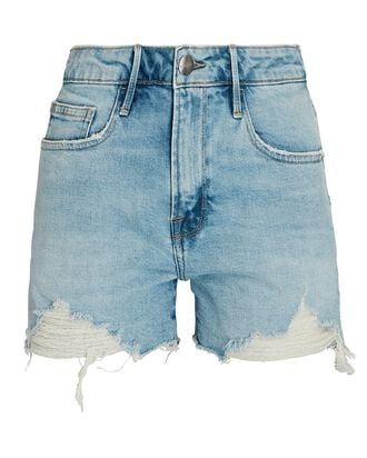 Le Grand Garçon Denim Shorts, BATHE, hi-res