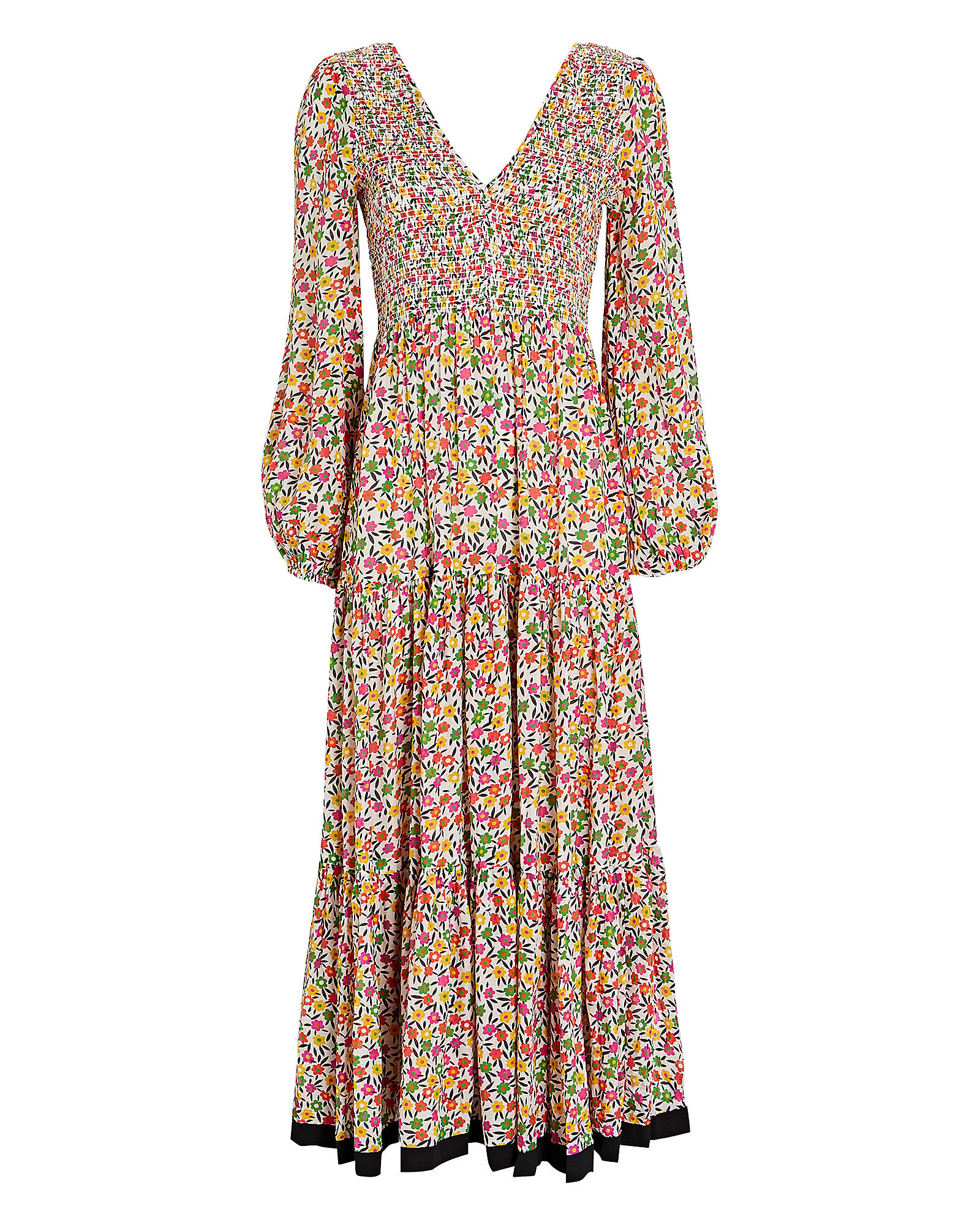 Brooke Micro Floral Midi Dress, MULTI, hi-res