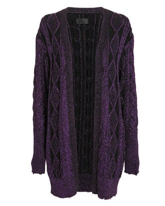 Iris Cardigan, PURPLE-DRK, hi-res
