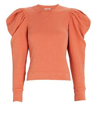 Allair Balloon Sleeve Sweatshirt, ORANGE, hi-res