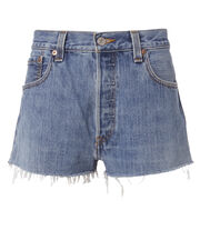 Clean Denim Cut Off Shorts, DENIM 2, hi-res