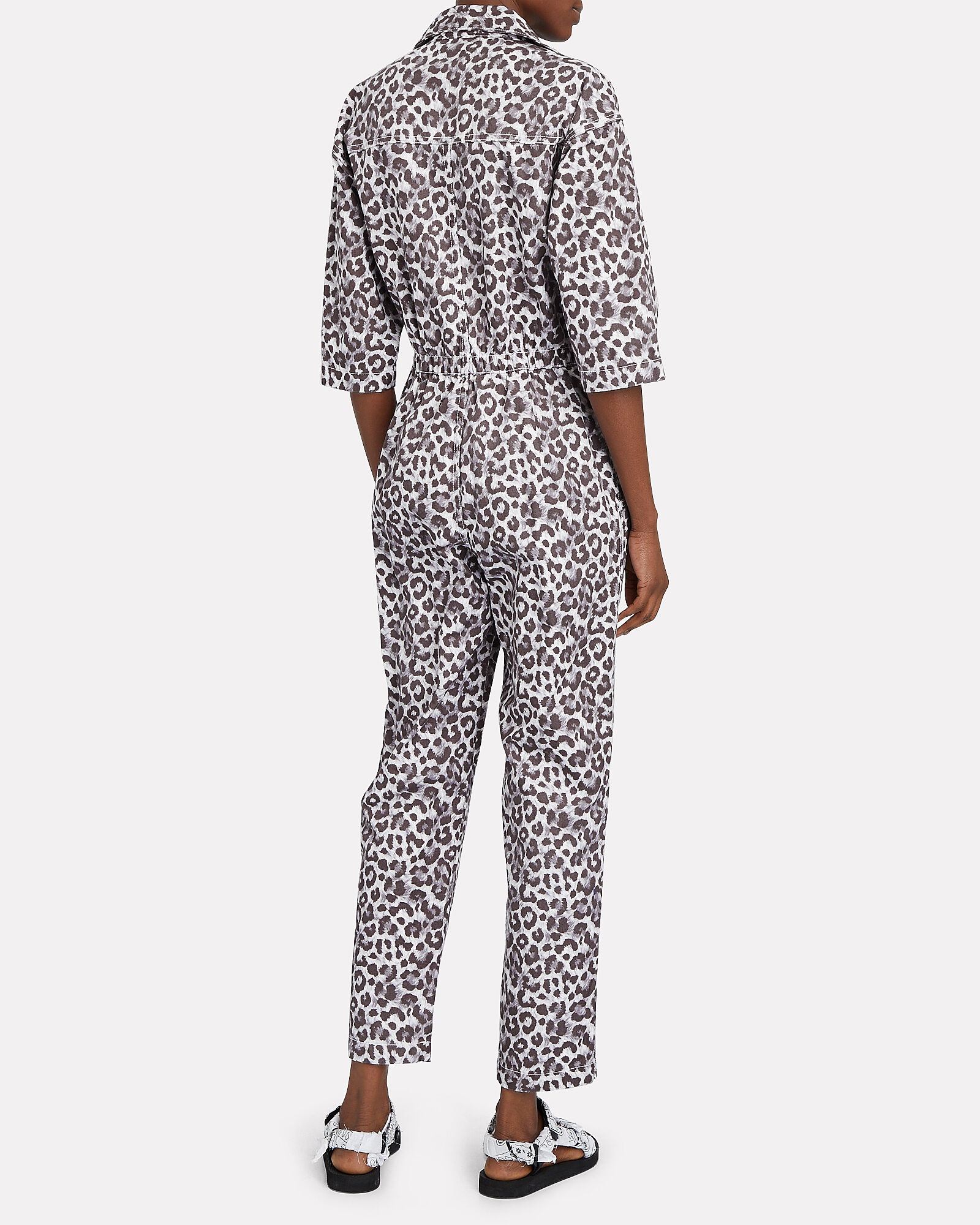 Hope Cotton Twill Jumpsuit, WHITE/GREY, hi-res