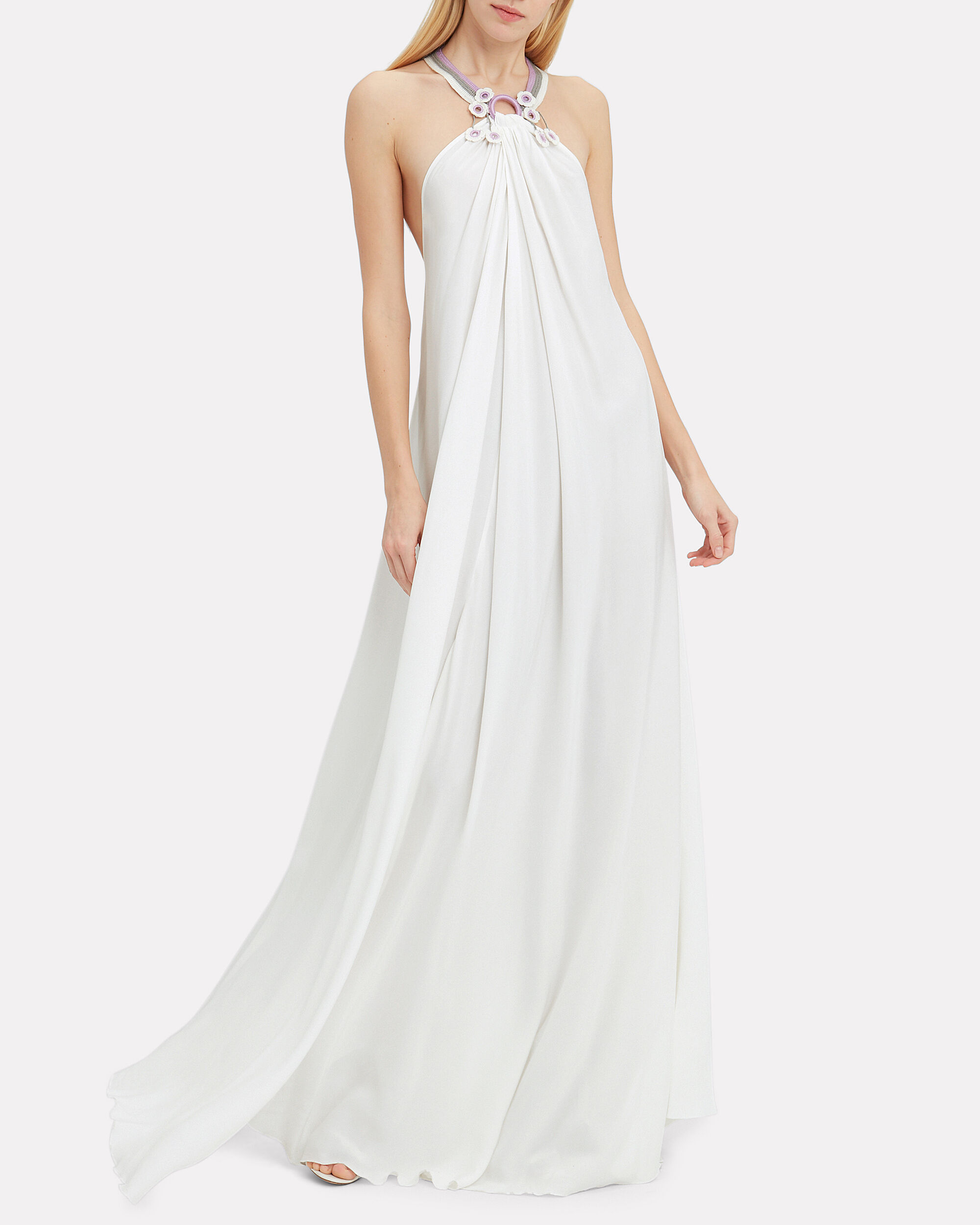 Paloma Maxi Dress, WHITE/LAVENDER, hi-res