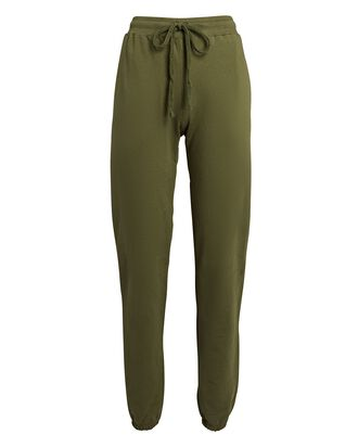 Pima Cotton Terry Joggers, OLIVE, hi-res