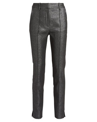 Carlson Lurex Trousers, METALLIC GREY, hi-res
