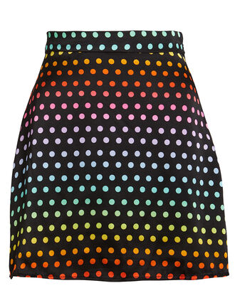Libby Rainbow Polka Dot Mini Skirt, BLACK/RAINBOW DOT, hi-res