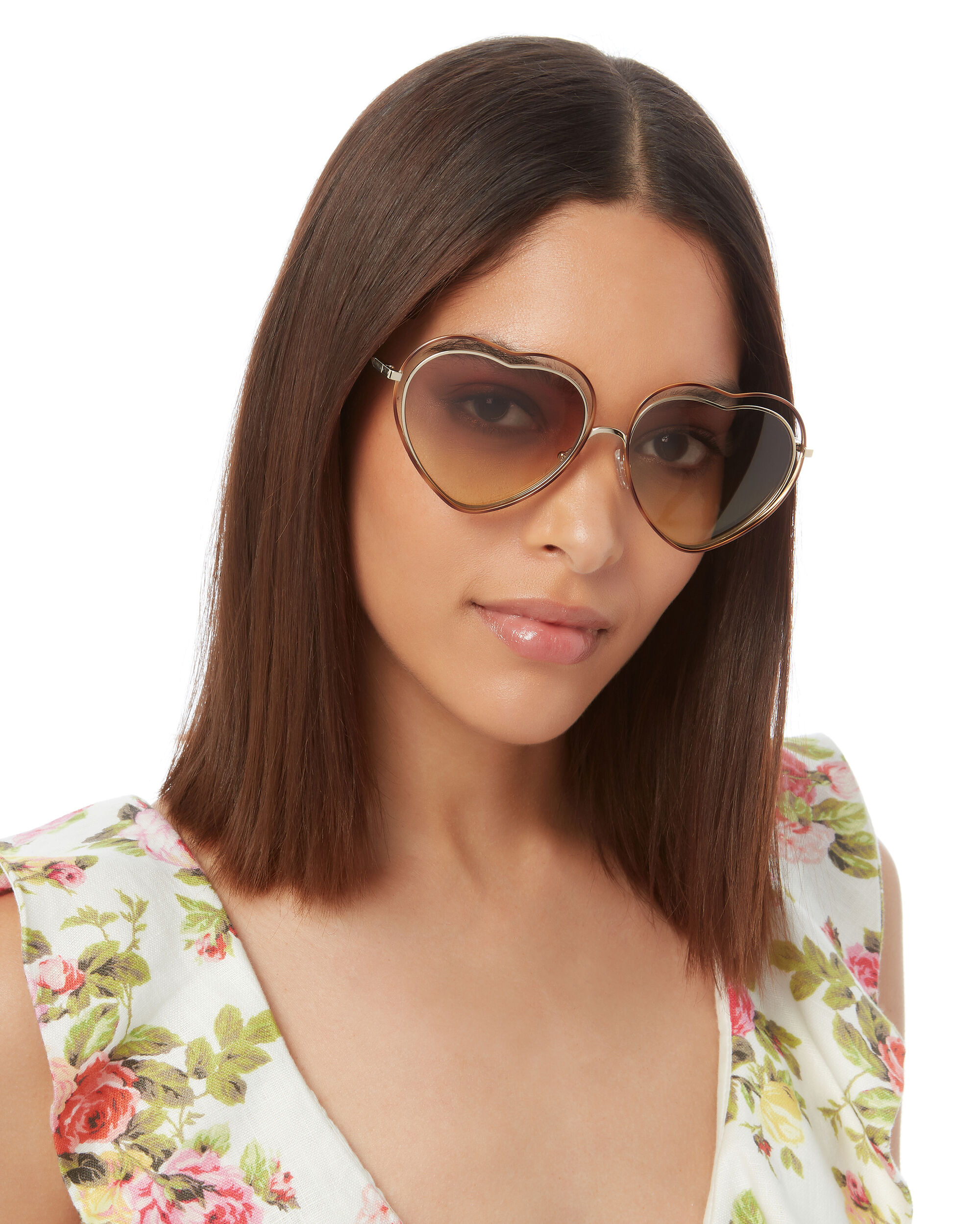 Poppy Heart-Shaped Sunglasses, PINK, hi-res