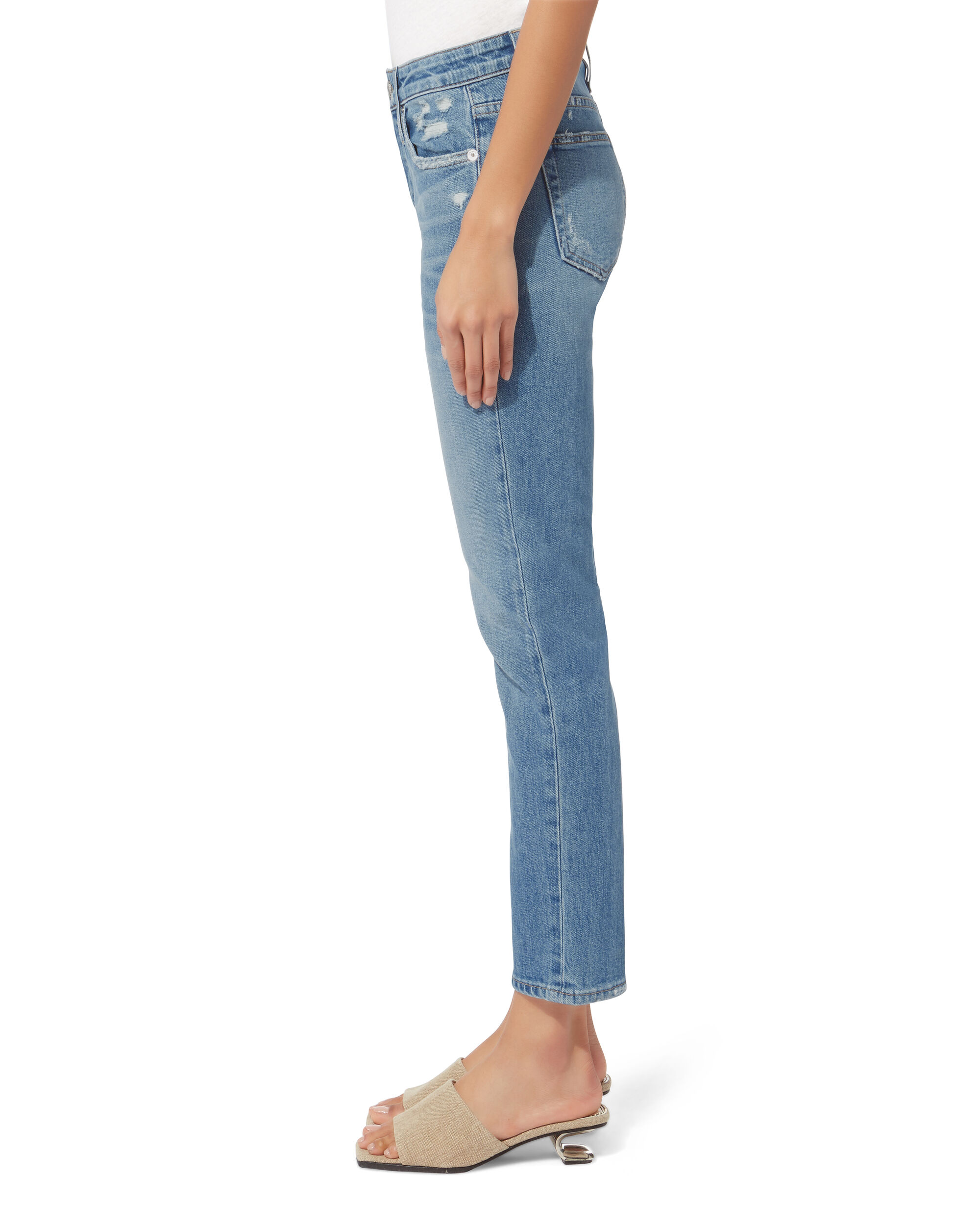 Lou Lou High-Rise Slim Leg Jeans, DENIM, hi-res