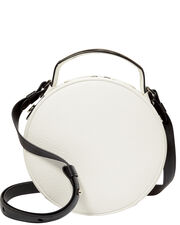 Le Tambour Circle Shoulder Bag, WHITE, hi-res
