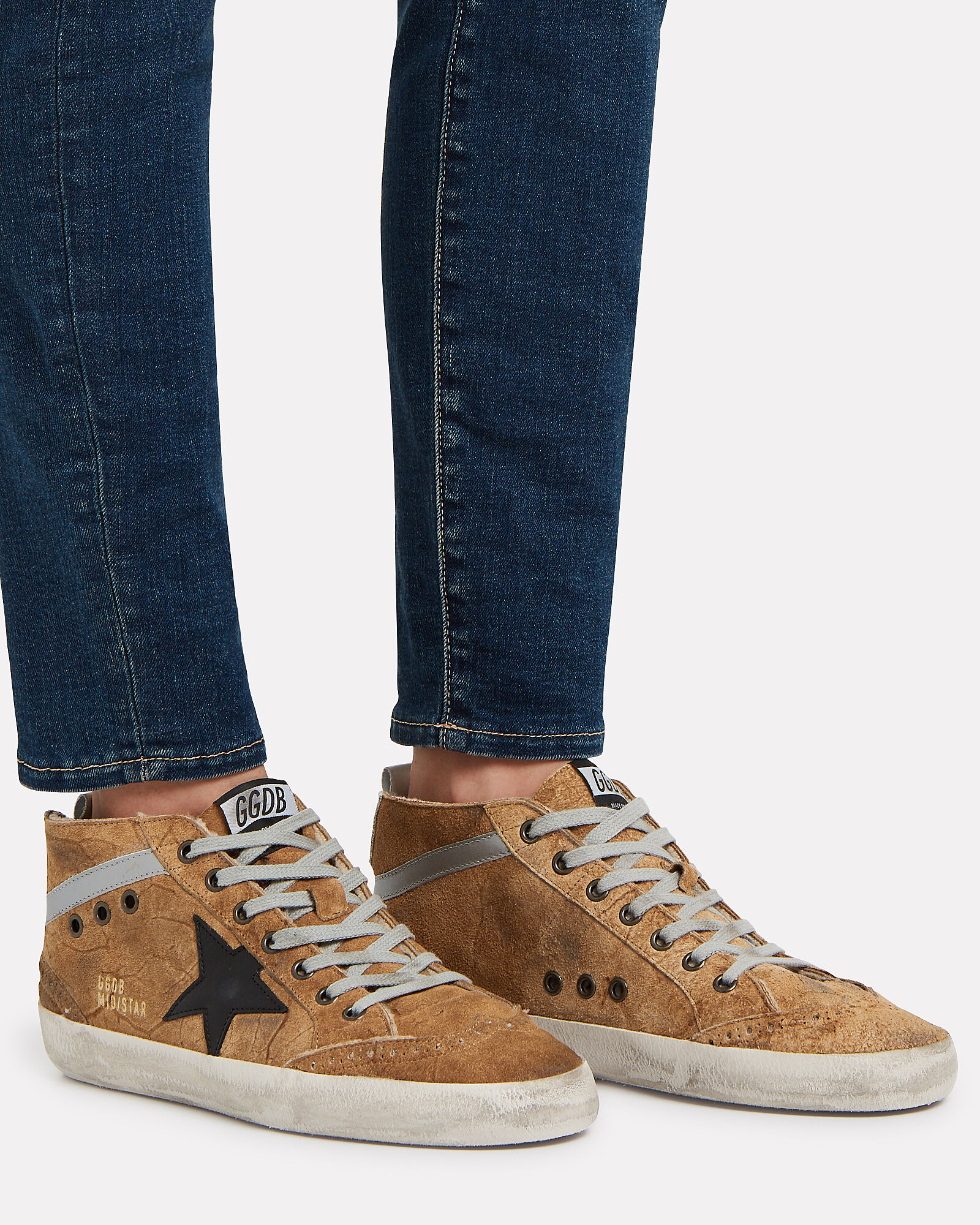 Mid Star Suede Sneakers, ORANGE, hi-res
