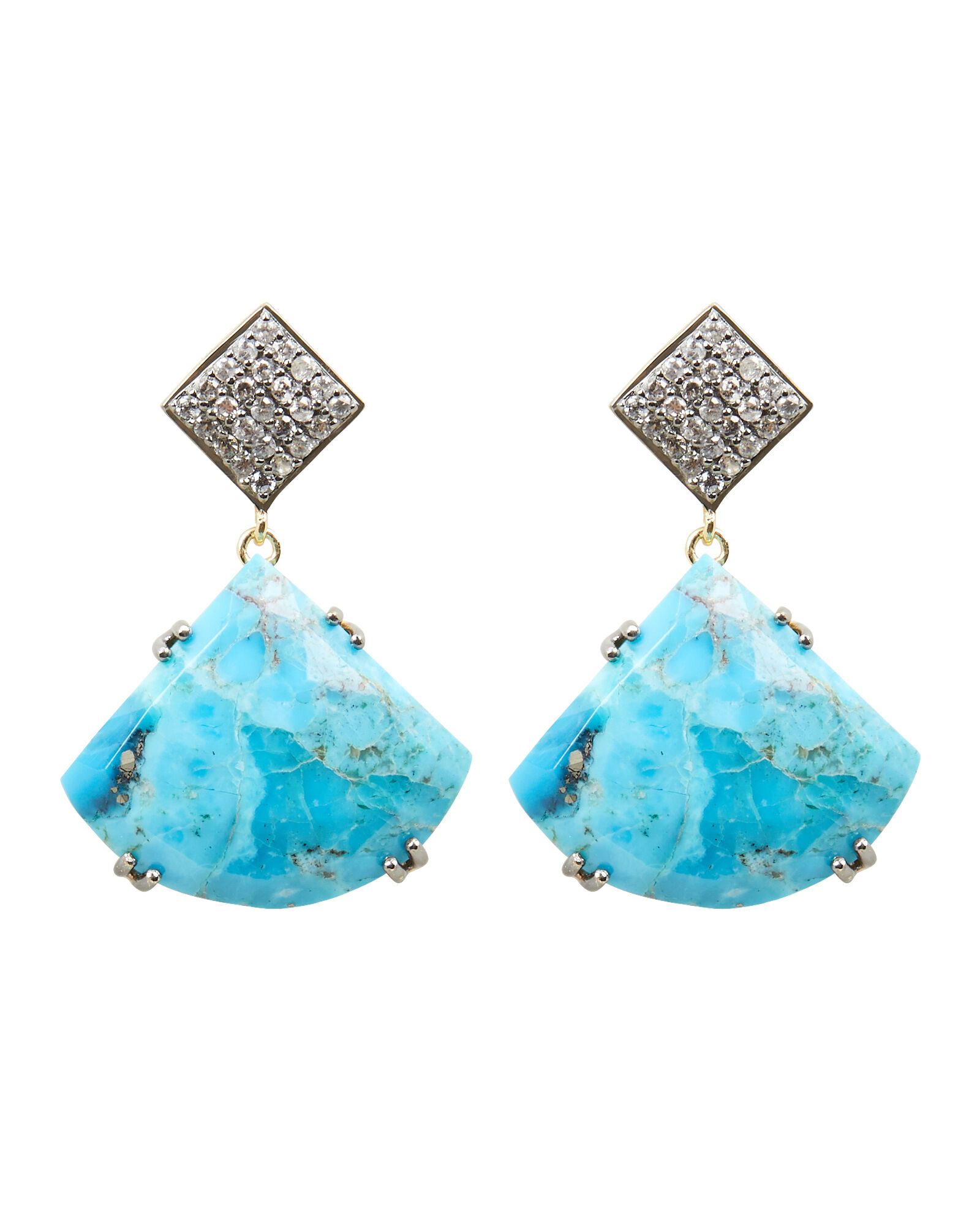 Drop Pendant Earrings, BLUE-MED, hi-res