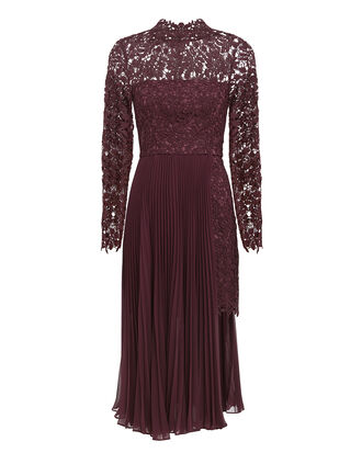 Indina Lace Dress, DARK MAROON, hi-res