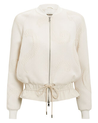 Cloque Bomber Jacket, IVORY, hi-res