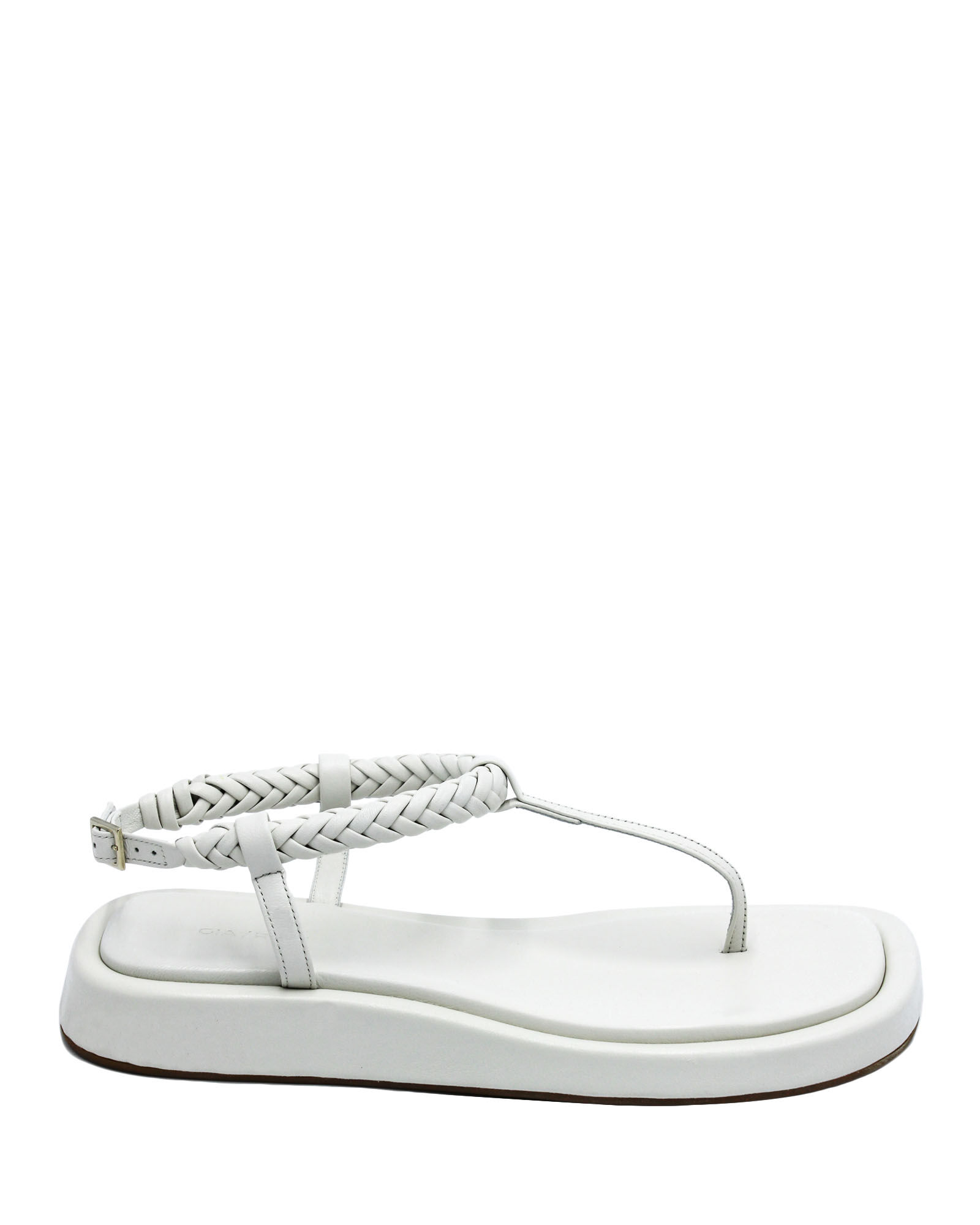 x RHW 3 Leather Thong Sandals, WHITE, hi-res