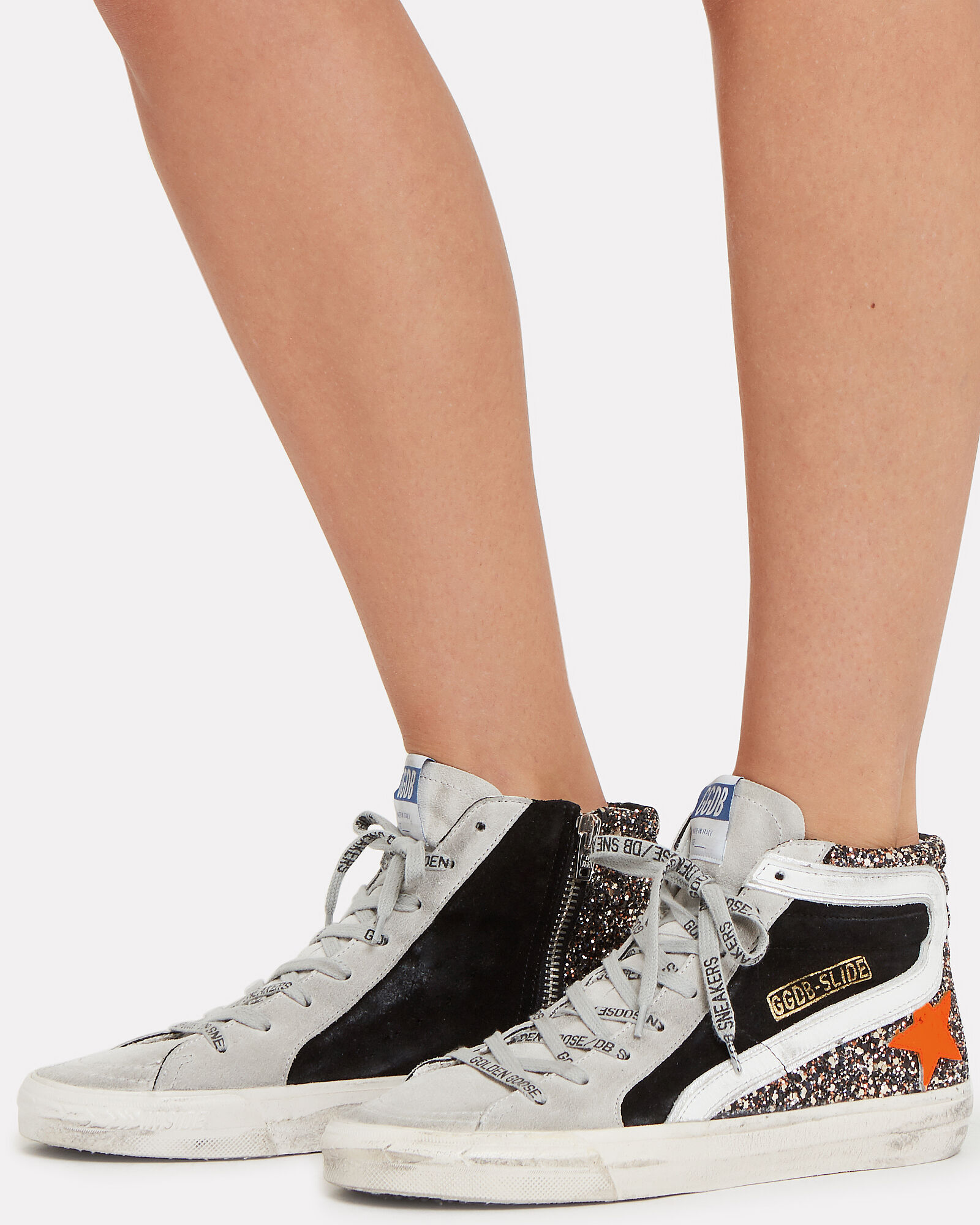 Slide Star High-Top Sneakers, GREY/BLACK, hi-res
