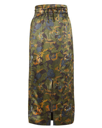 Camouflage Heavy Satin Skirt, MULTI, hi-res