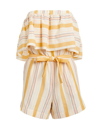 Zeritu Striped Romper, YELLOW STRIPE, hi-res